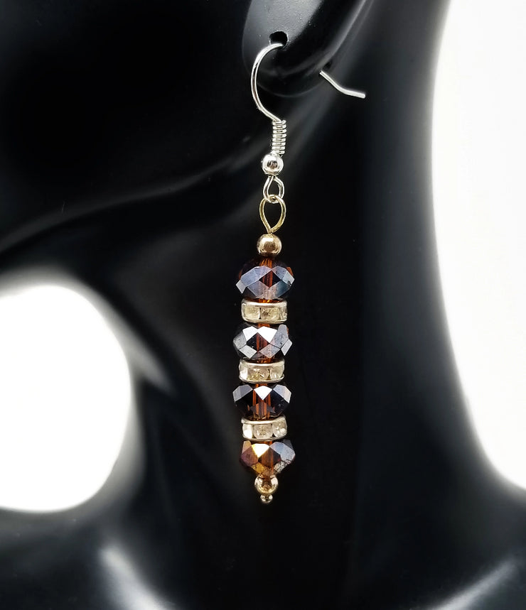 Sawa Earrings - Dark Amber