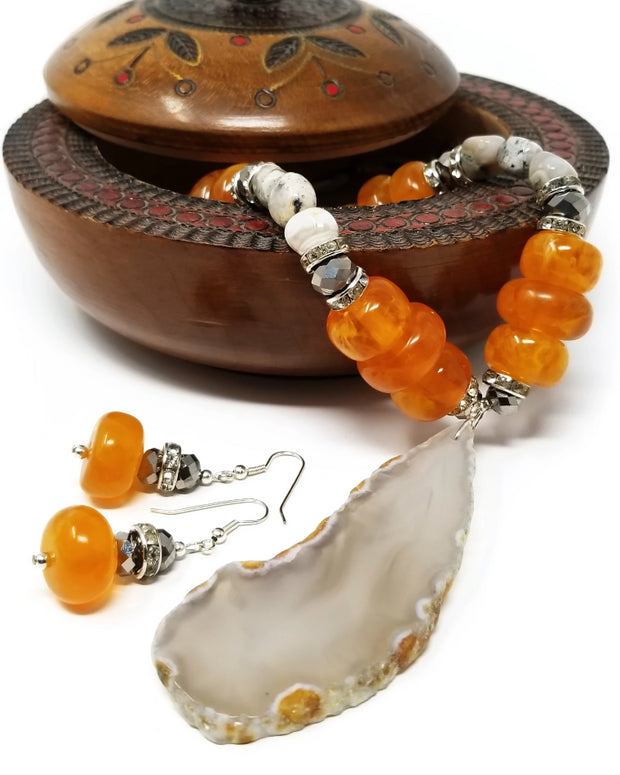 Amarey Agate Necklace