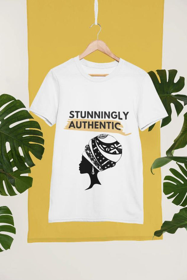 """Stunningly Authentic"" - White T-Shirt"