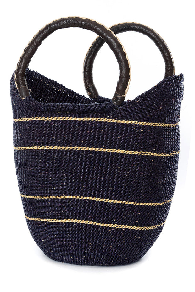 Midnight Blue Bolga Shopper