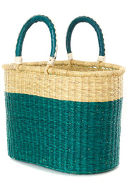 Curacao Color Block Bolga Shopper