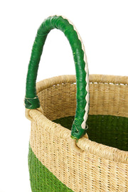 Cilantro Color Block Bolga Shopper