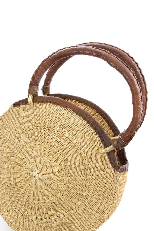Ghanaian Woven Round Tote
