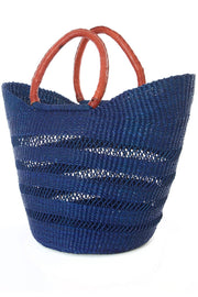 Navy Blue Lacework Wing Shopper
