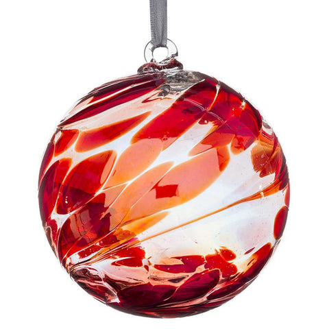 Sienna Glass Ruby Red Friendship Ball Bauble