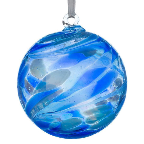 Sienna Glass Sapphire Blue Friendship Ball Bauble