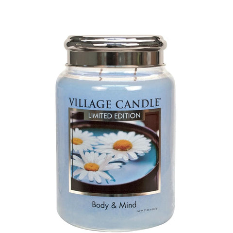 Body and mind spa candle village candle large jar