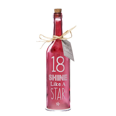 18th Birthday LED Bottle | Starlight Bottles
