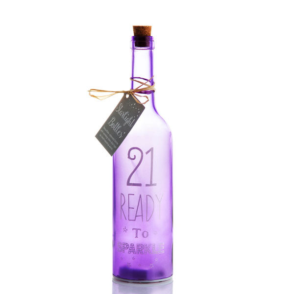 21st Birthday Starlight LED bottle