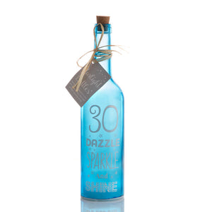 30th birthday LED Bottle | Starlight Bottles