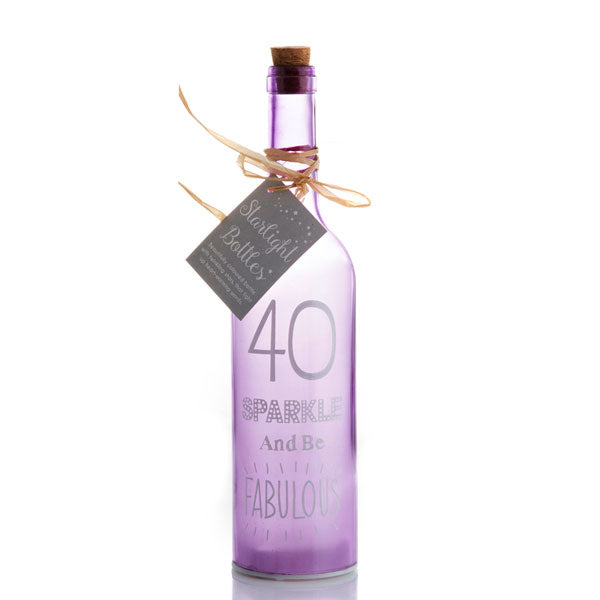 40th Birthday LED Bottle Starlight Bottles