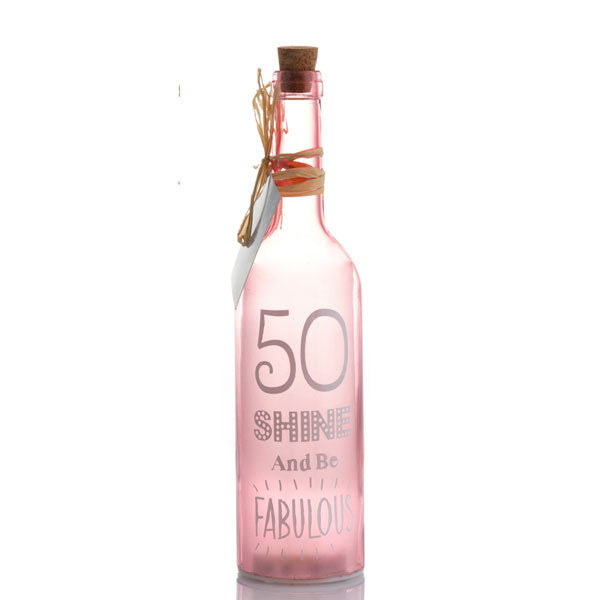 50th Birthday LED Bottle | Starlight Bottles