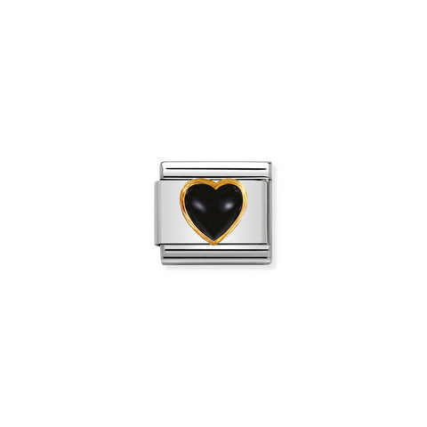 Black Heart Agate Gold