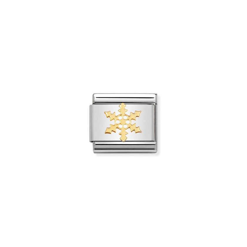 Gold Snowflake Composable Classic Link Nomination Charms