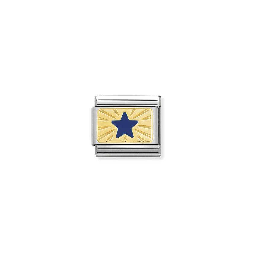 Star Blue on Gold Nomination Composable Link Charm