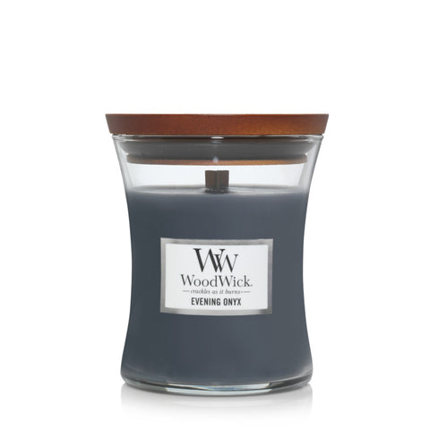 Evening Onyx Woodwick Medium Candle