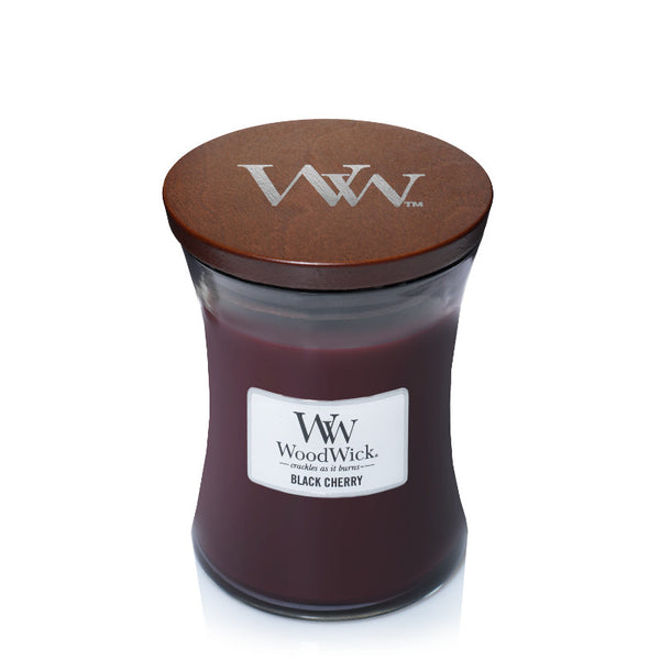 Black Cherry  Woodwick Medium Jar Candles