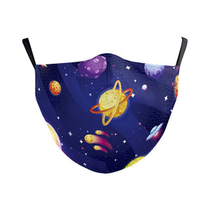 Children's Saturn Universe Reusable Face Mask