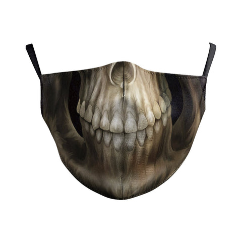 Goth Skull Reusable Face Mask