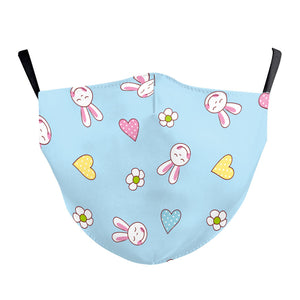 Children's Bunny Love Reusable Face Mask