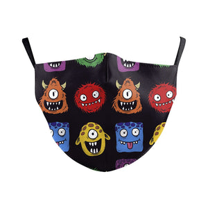 Children's Alien Monster Reusable Face Mask