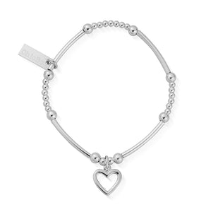 Cute Mini Open Heart Bracelet Silver Chlobo