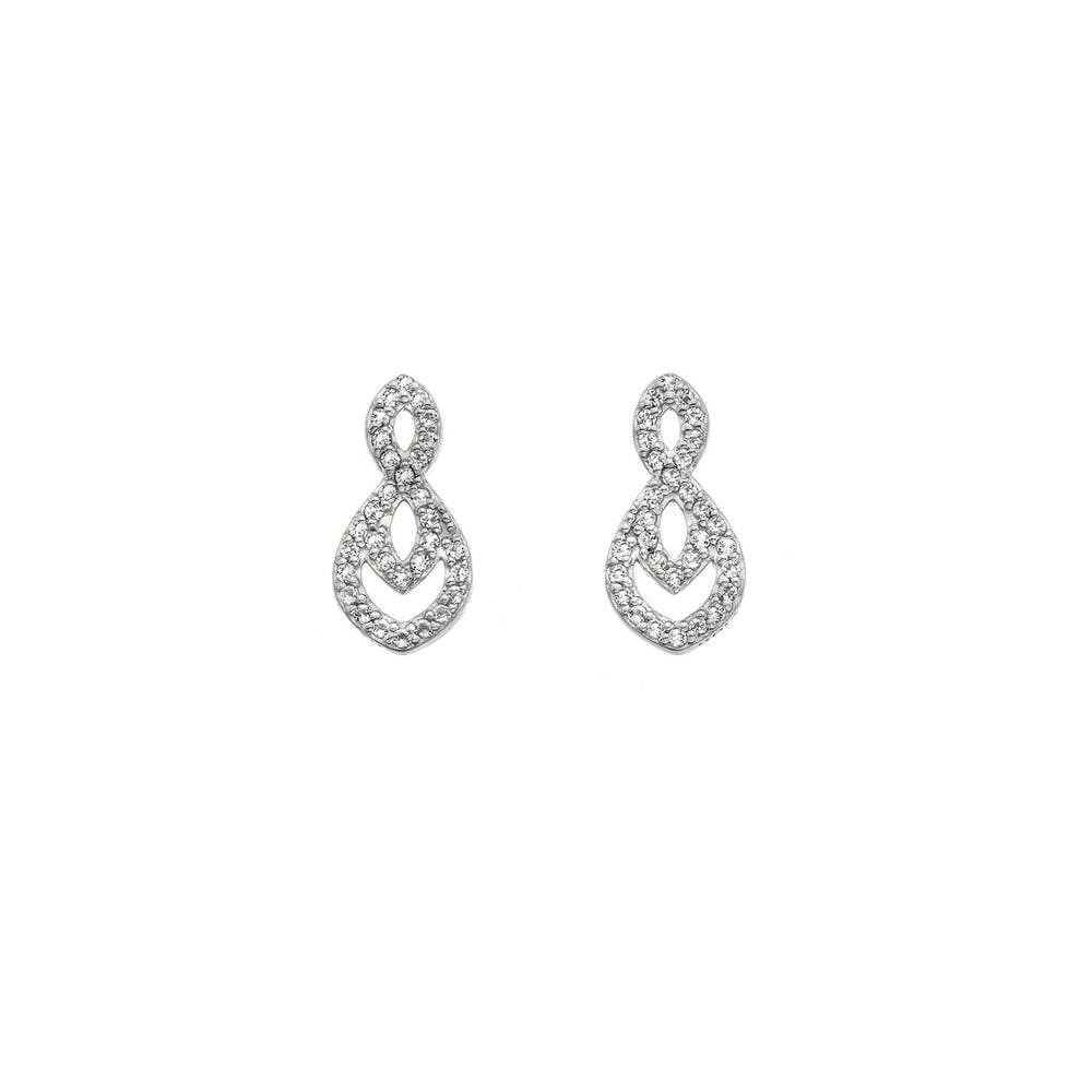 Harmony White Gold Earrings Hot Diamonds Jewellery