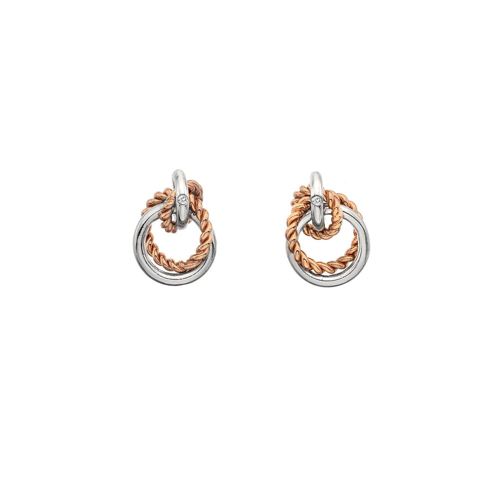 Unity Circle Rose Gold Earrings Hot Diamonds Jewellery