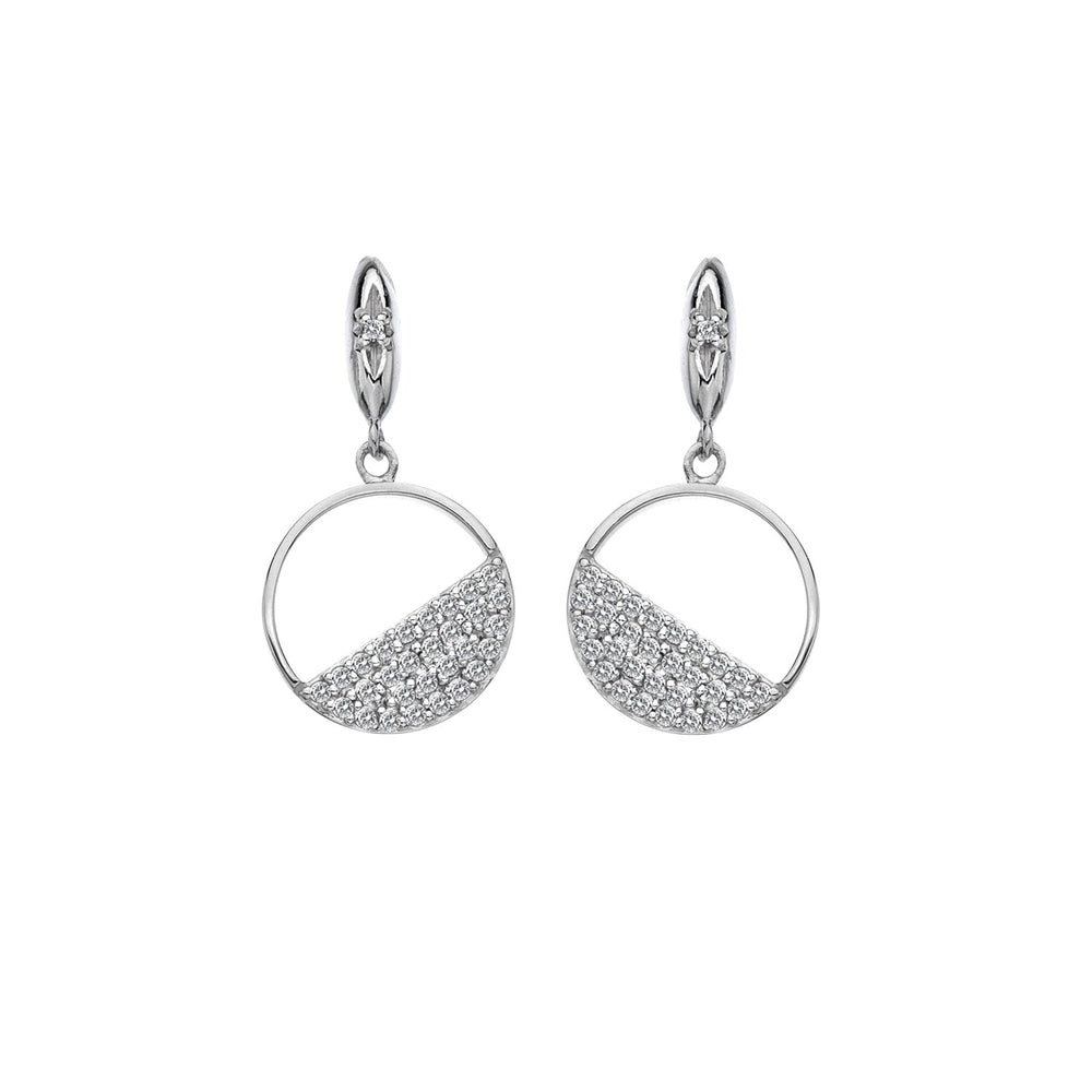 Horizon White Topaz Circle Earrings Hot Diamonds Jewellery