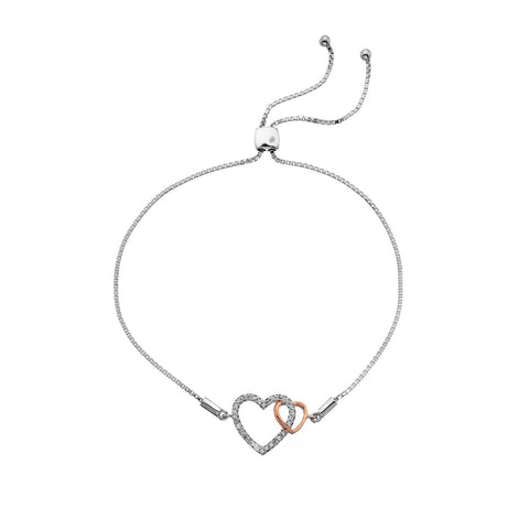 Togetherness Open Heart Rose Gold Bracelet Hot Diamonds Jewellery