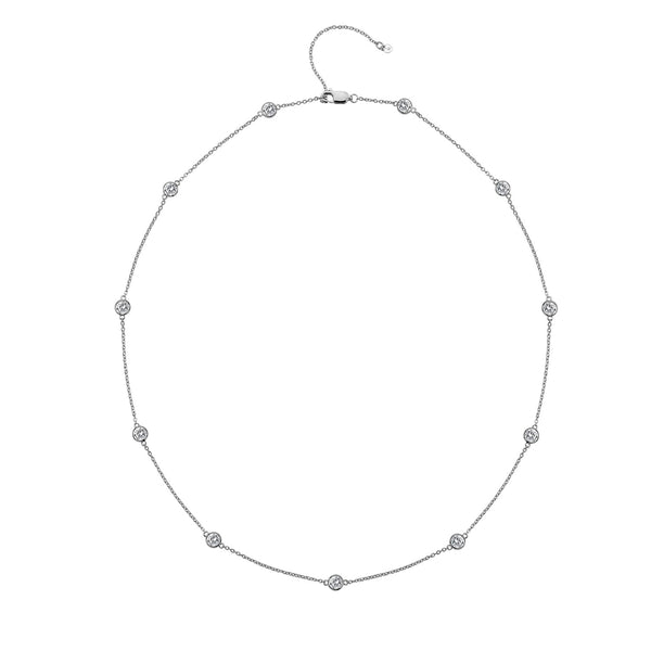 Tender White Topaz Intermittent 45Cm Necklace Hot Diamonds Jewellery