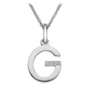 "Letter ""G"" Micro Pendant Hot Diamonds Jewellery"