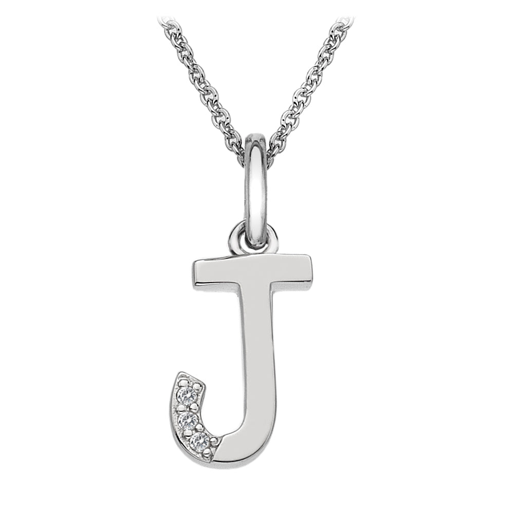 "Letter ""J"" Micro Pendant Hot Diamonds Jewellery"