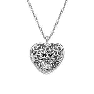 Embracing Heart Locket Large Locket Hot Diamonds Jewellery
