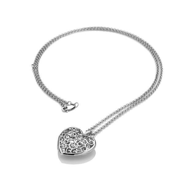 Embracing Heart Locket Large