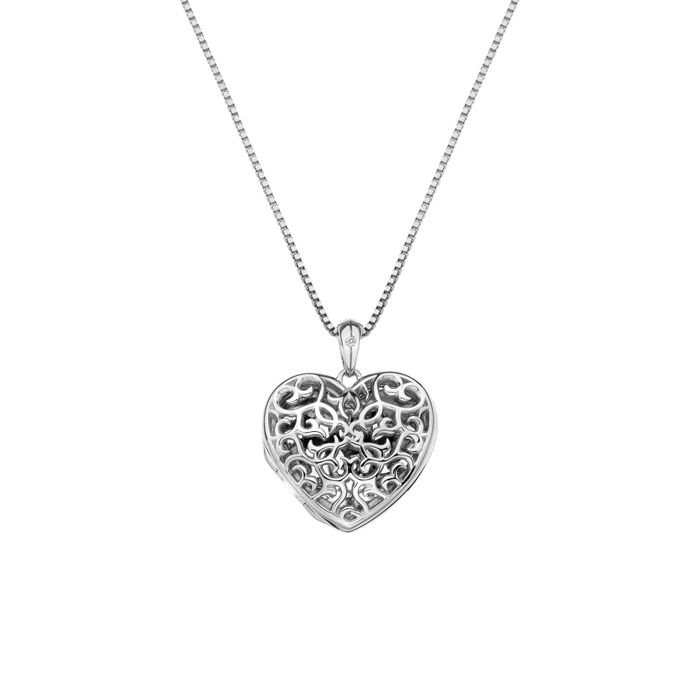 Embracing Heart Locket Locket Hot Diamonds Jewellery