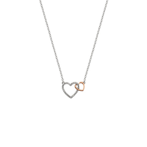 Togetherness Open Heart Rose Gold Pendant Hot Diamonds Jewellery