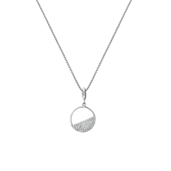 Horizon White Topaz Circle Pendant Hot Diamonds Jewellery