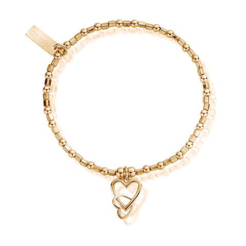 Gold Interlocking Love Heart
