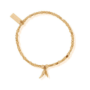 Gold Double Feather Bracelet Chlobo