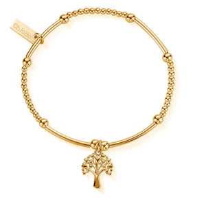 Cute Mini Heart Tree of Life Bracelet Gold Chlobo