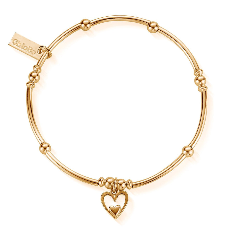 Mini Noodle Ball Heart In Heart Bracelet