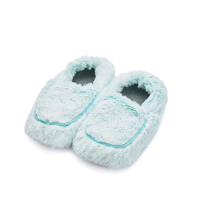 Marshmallow Mint Heatable Microwave Slippers