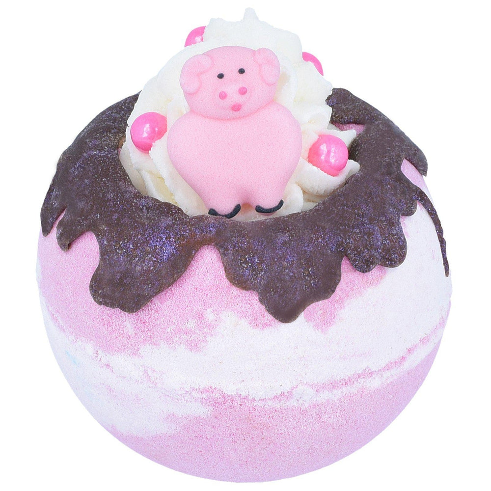 Piggy in the Middle Chocolate Raspberry Bath Blaster Bomb Cosmetics