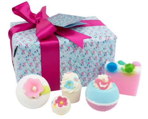 Pocket Full of Posies Flower Bath Bomb & Soap Gift Set by Bomb Cosmetics