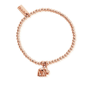 Cute Charm Elephant Bracelet Rose Gold
