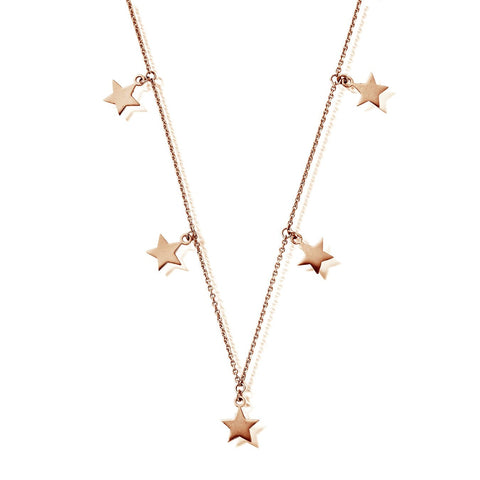 Multi Star Necklace Silver