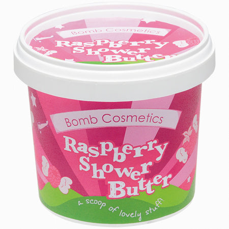 Raspberry shower butter bomb cosmetics
