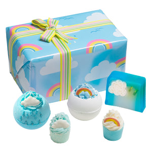 Right as Rain Blue Rainbow Bath Bomb & Soap Gift Box by Bomb Cosmetics