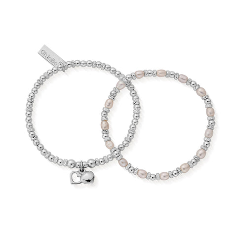 Adult's Forever Bridal bracelets Love Set of 2